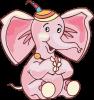 Розовый слоненок
