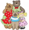 Три медведя и воришка (английская версия)